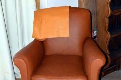 fauteuil club cuir vachette guindage suspendu