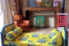 Banquette appoint jaune clarke & clarke lémurien-bis