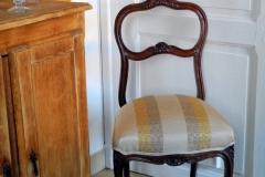 Chaise Louis XV couverture soie
