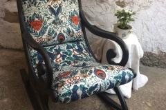 Rocking chair tissu clarke&clarke animalia bleu